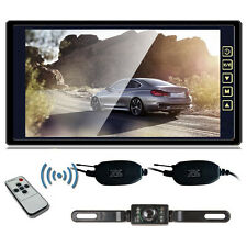 "9"" TFT LCD Rear View Mirror Monitor+Wireless HD CCD Car Reverse Backup Camera"