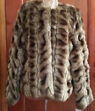 Faux Fur Mink Coat M Medium Brown Lined Luxurious Chubby Lewis Gorgeous New Tags