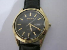Pre Owned Seiko Solar Yellow Case and Black Dial,Movement #158,Japan ,Working