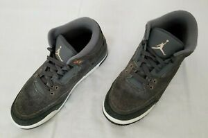 Youth Size 6.5Y Grey Nike Air Jordan III Retro GG Sneakers 441140-035 preowned