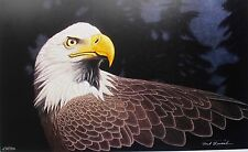 ROCK NEWCOMB TIMELESS SYMBOL EAGLE Hand Signed Limited Edition Art Lithograph
