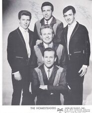 THE HOMESTEADERS Little Darlin Records SIGNED BY BAND 8x10 PUBLICITY PHOTO