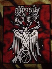 Abyssic Hate Runes Satanic Eagle Pentagram Back Patch Black Metal Ancient Race