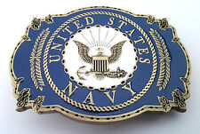 UNITED STATES NAVY  BELT BUCKLE  Made in the USA BRASS 121  MT