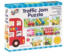Galt 10Pcs TRAFFIC JAM Floor Puzzle Sound Button Bus Car Truck Sequencing Toy