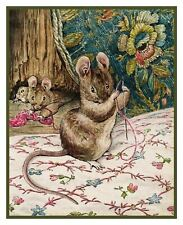 Mouse Helps the Tailor of Gloucester Beatrix Potter Counted Cross Stitch Pattern