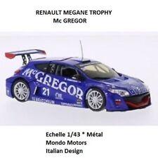 Mondo Motors * RENAULT MEGANE TROPHY Mc Gregor 21 Bleu * Ech.1/43 Métal * NEUF *