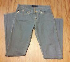 Rock And Republic Women's Jeans Size 4 Gray/Blue Skinny Leg Pants w Gold Shimmer