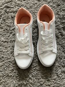 pink and white trainers Size 6