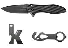 Kershaw 3 Set Tactical Assisted Opening Knife K-Tool Strap Cutter Tool 1317KITX