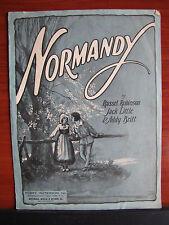 Normandy - 1925 sheet music - Piano Vocal Ukulele