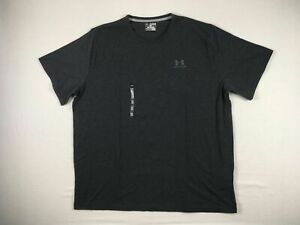 Under Armour Short Sleeve Shirt Men's Gray HeatGear NEW 4XL