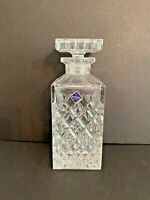 Vintage Crystal Decanter & Stopper Bohemia Czech Republic Cut Clear Leaded Glass