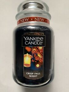YANKEE CANDLE  CRISP FALL NIGHT 22 oz. LARGE JAR FALL FAVORITE VHTF