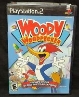 Woody Woodpecker Escape From Buzz PS2 Playstation 2 Game Tested Working Complete