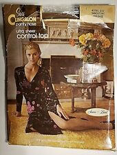 Vintage 70s Sears Cling*alon Ultra Sheer Control Top Pantyhose Sandstone Average