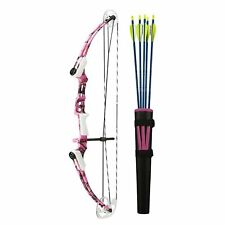 Genesis Archery 12270 New Mathews Right Hand Mini Youth Bow Archery Kit, Pink