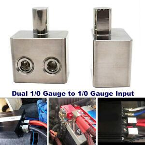 Car Audio Amplifier Power Line Ground Wire Plug-in Dual 1/0 Gauge To 1/0 Gauge
