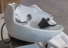 Lavabo parrucchiere+kit ceramica bianca per poltrona 992 lavatesta professionale