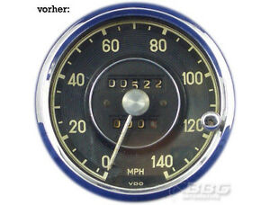 Umrüstung mechanischer VDO Tachometer aus Mercedes Benz 190SL Mph zu Km/h