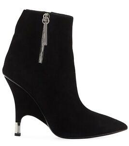 Giuseppe Zanotti Boots Roslyn Black Leather IT 40 US 10 Ankle Booties $1,095