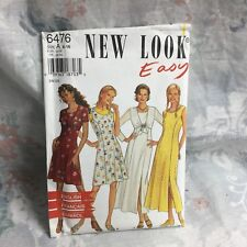 New Look 6476 girly princess seam dress vintage UNCUT sewing Pattern size 6-16
