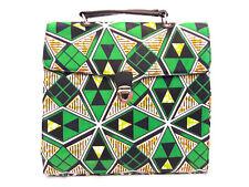 African Print Handbag Green Satchel Purse Ankara
