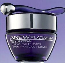 1 AVON ANEW PLATINUM Lip & Eye Cream Jar Lift Firm Moisturize Wrinkles Lines NIB