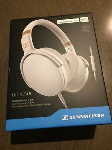 Sennheiser HD 4.30i Headphones - White Brand New