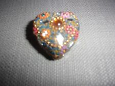 Decorative Heart Shaped Pill/Trinket Box