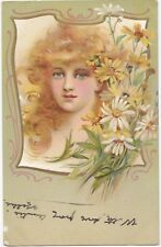 Vintage Early 1900's Pretty Girl Post Cards Published  Marcus Ward's Series 48