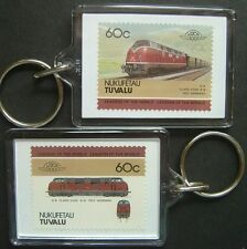 1953 DB Class V200 Warship (Germany) Train Stamp Keyring (Loco 100)