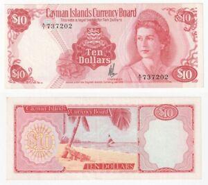 CAYMAN ISLANDS 10 Dollar Banknote (1981) P.7a - EF.