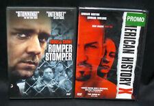 American History X and Romper Stomper (Dvd Set) Skinheads Movies Punk Gangs Box