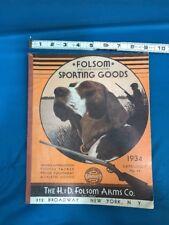Folsom Wholesale Distributors Sporting  Goods 1934 Volume Number 44 Catalog