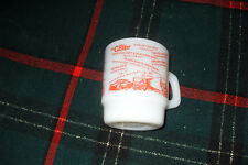 Trucker CB Mug Fire King C.B.'er Anchor Hocking Milk Glass Made USA