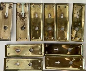 5 Sets Of Doorknob Skeleton Key Plates
