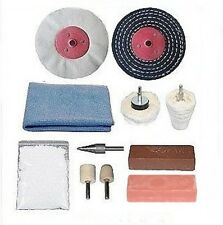 """Chrome Polishing Kit (3"""" x 1/2"""" mops) - For use with an electric drill"""