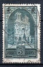 "FRANCE STAMP TIMBRE N° 259 b "" CATHEDRALE REIMS 3F TYPE III "" OBLITERE TB  M535"