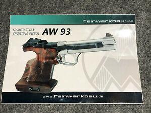Feinwerkbau GmbH AW93 cal. 22 Sporting Pistol sticker