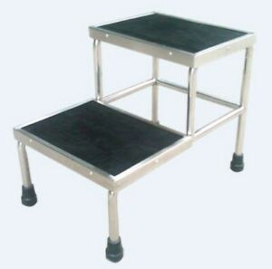 Stool Stainless Steel Double Step Up with Slip Resistance Top RRP$162