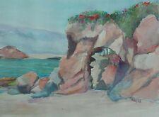 Aliso Beach Arch Original Watercolor Painting~ RAMfish Artist South Laguna Calif