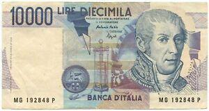 10000 LIRE FALSO D'EPOCA BANCA D'ITALIA ALESSANDRO VOLTA LETTERA G 16/10/1995 BB