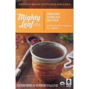 Mighty Leaf Tea Organic African Nectar Hand-Stitched Tea Bags, 15 ct Exp: 1/22