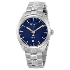 Tissot PR100 Blue Dial Stainless Steel Mens Watch T1014101104100