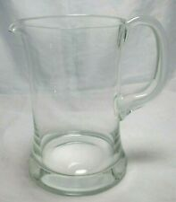 Clear Glass Pitcher Classic Sturdy Thick Flared Base 64 Oz