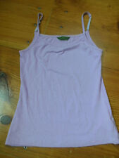 OILILY Women's M Medium Fitted Lyocell/Cotton Blend Tank Top Cami Adj Straps