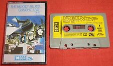 THE MOODY BLUES - UK CASSETTE TAPE - CAUGHT LIVE + 5 - PAPER LABELS