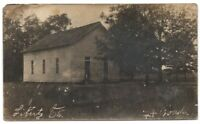 One Room Schoolhouse Liberty Oh  RPPC Real Photo Vintage Postcard Ohio