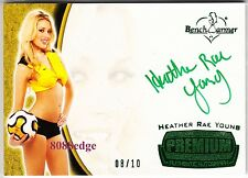 2012 BENCHWARMER SOCCER AUTO: HEATHER RAE YOUNG #8/10 AUTOGRAPH PLAYBOY PLAYMATE
